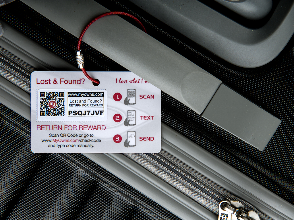 Luggage tag - without MyOwns label
